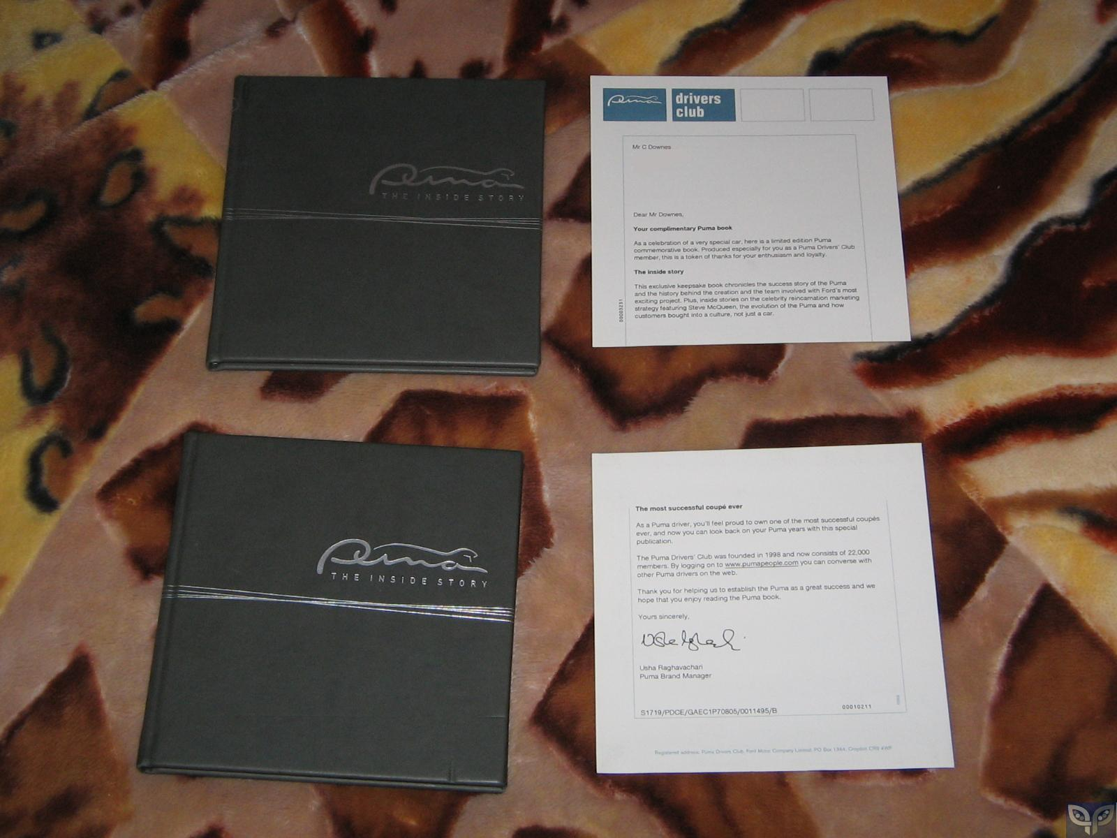 My Ford Puma Literature Collection. - Pumapeople 5711e4c6ac27